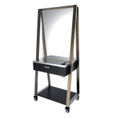Alison Double Easel Station in Rustic Steel Finish  $2,917.00