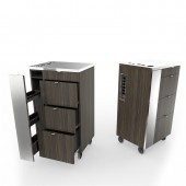 Short Spice Mobile Styling Cart with Tool Holder  $1,750.00
