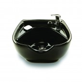Black Porcelain Shampoo Bowl with Built In SFVB  $561.00
